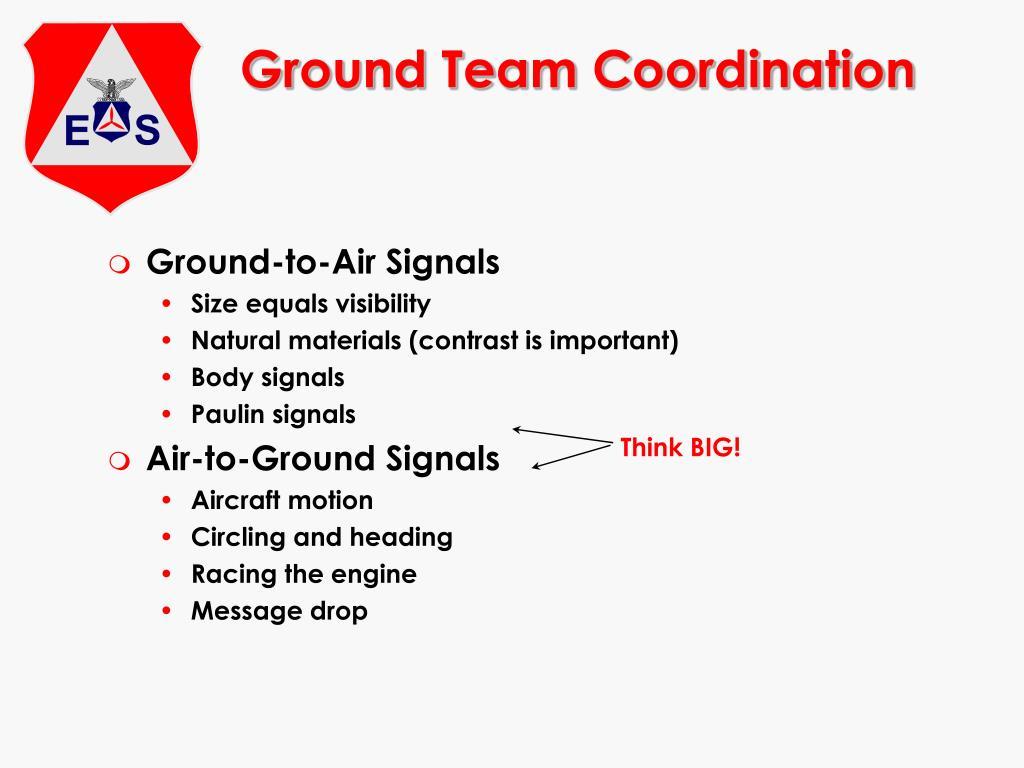 Ground Team Coordination