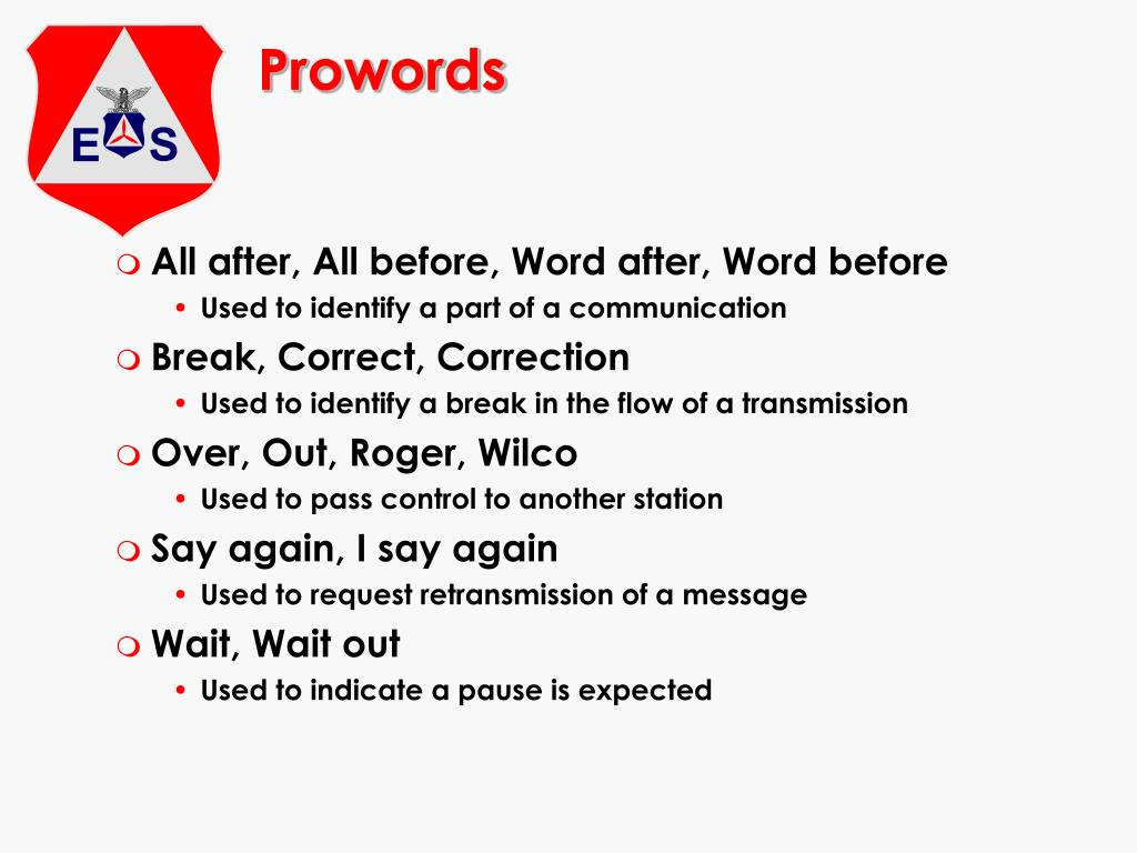 Prowords