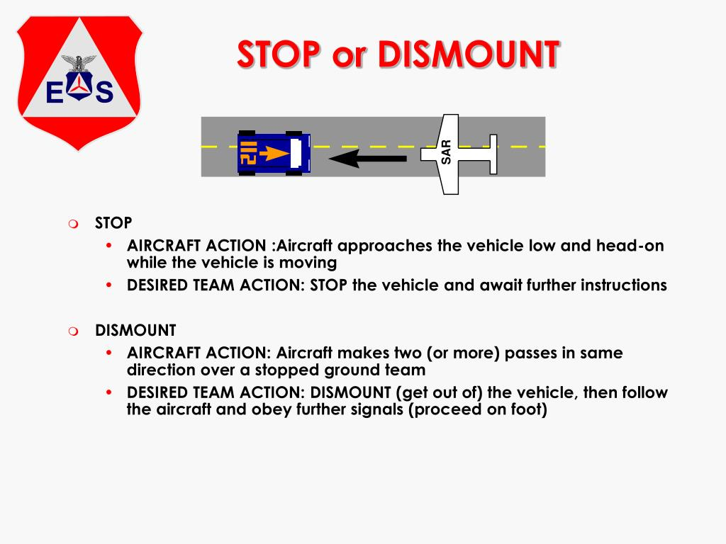STOP or DISMOUNT