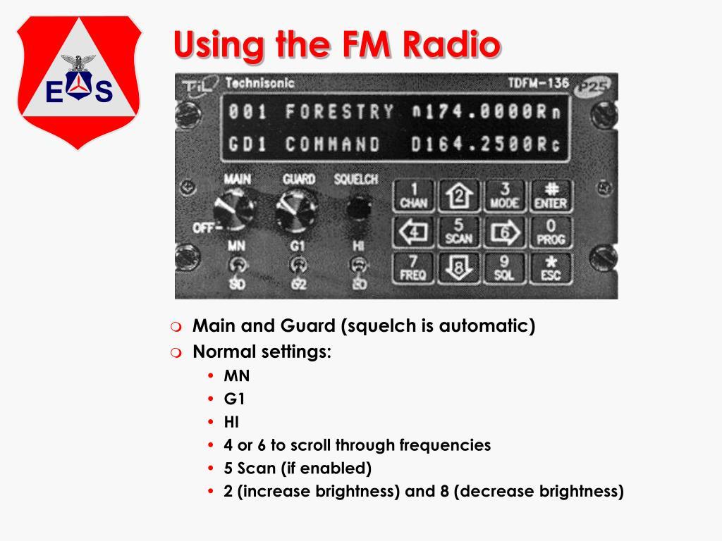 Using the FM Radio