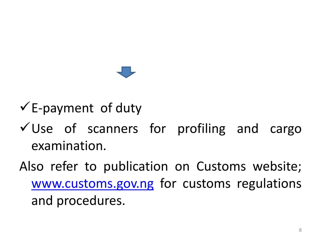 E-payment  of duty