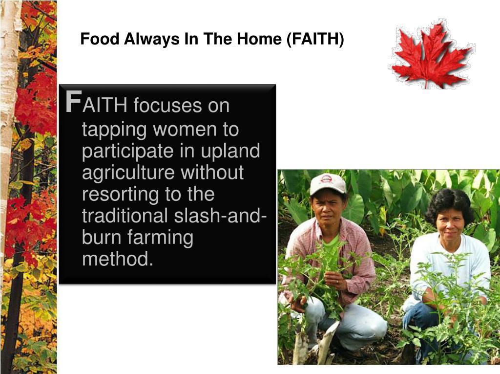 Food Always In The Home (FAITH)