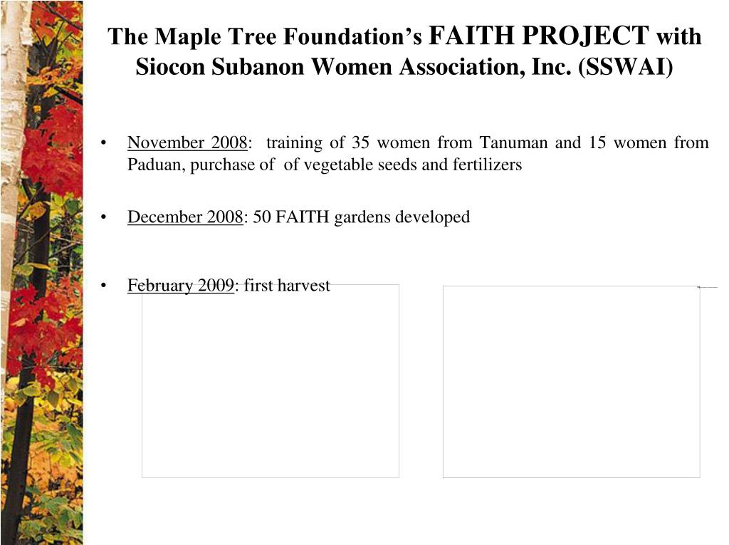 The Maple Tree Foundation's