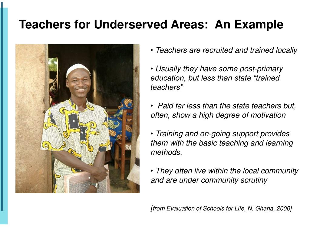 Teachers for Underserved Areas:  An Example