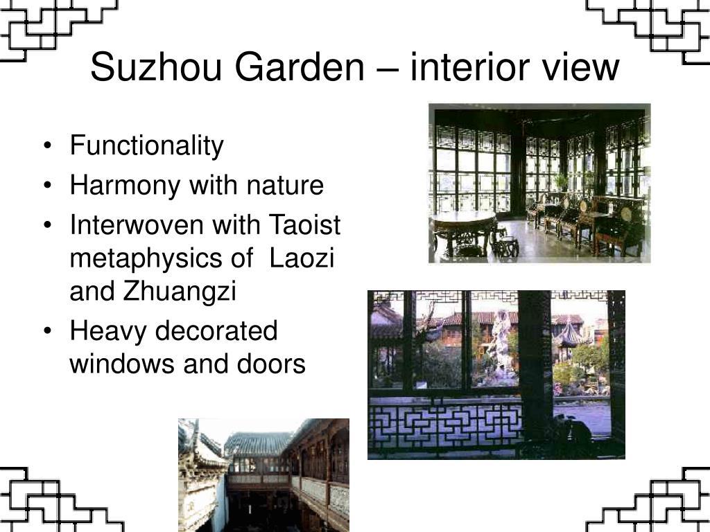 Suzhou Garden – interior view