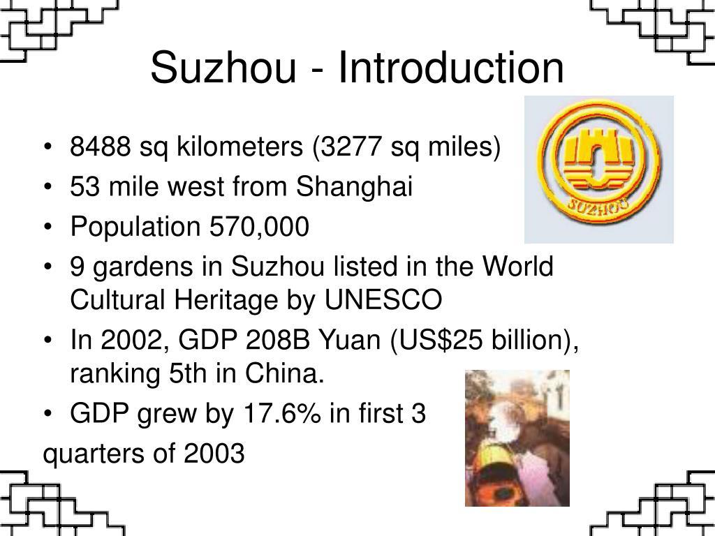 Suzhou - Introduction