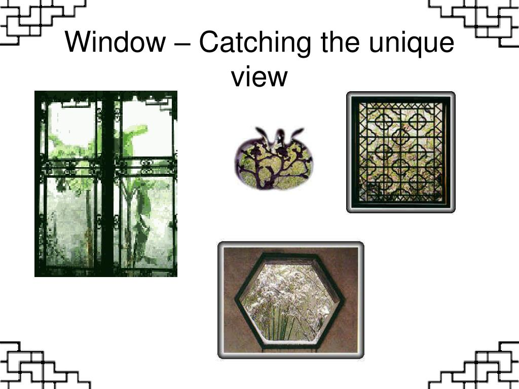 Window – Catching the unique view
