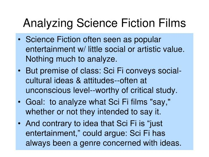 Analyzing science fiction films