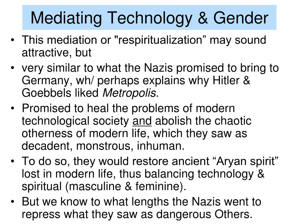 Mediating Technology & Gender