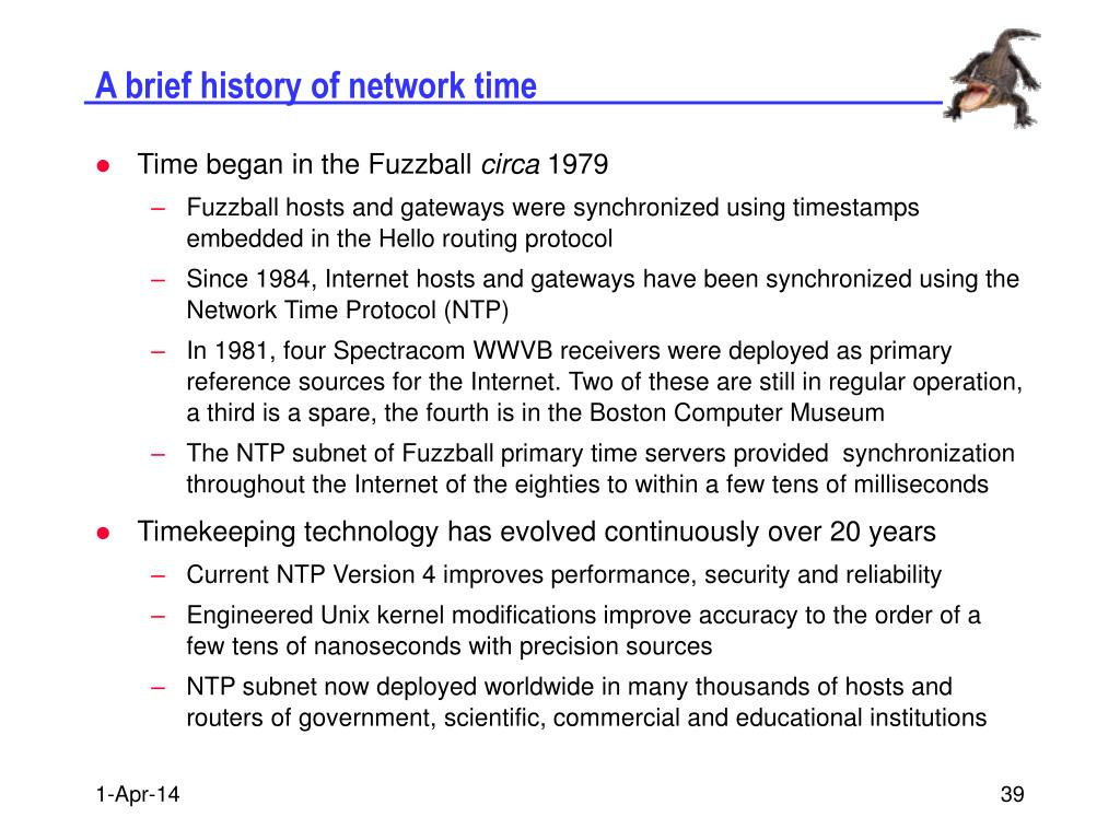 A brief history of network time