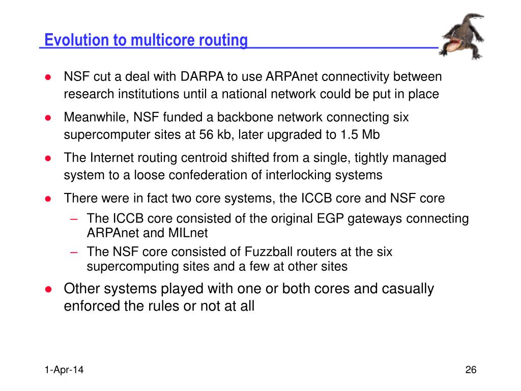 Evolution to multicore routing