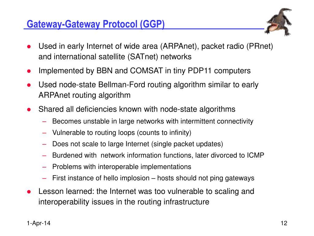 Gateway-Gateway Protocol (GGP)