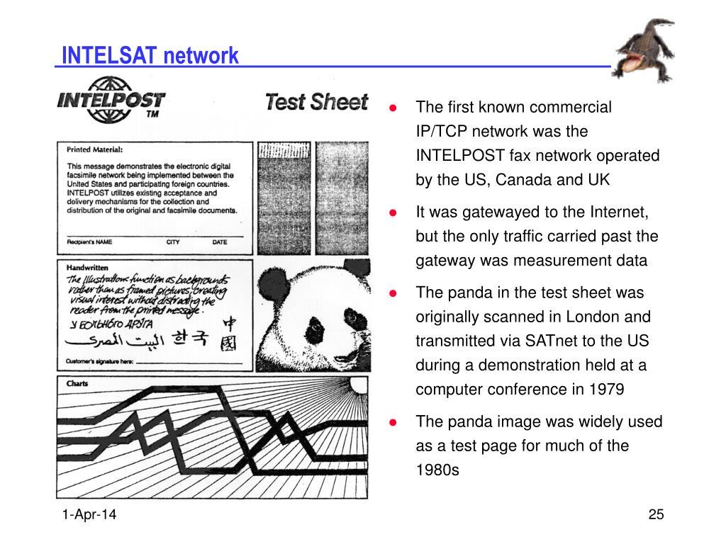 INTELSAT network
