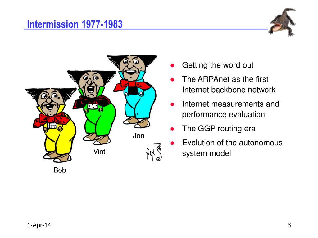 Intermission 1977-1983