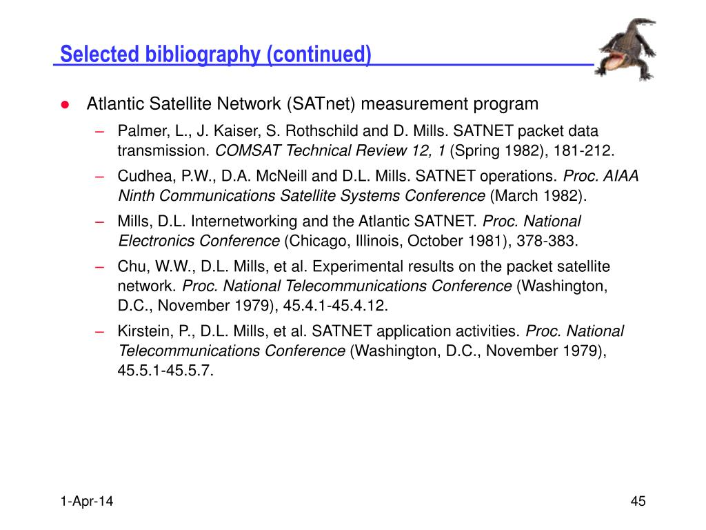 Selected bibliography (continued)