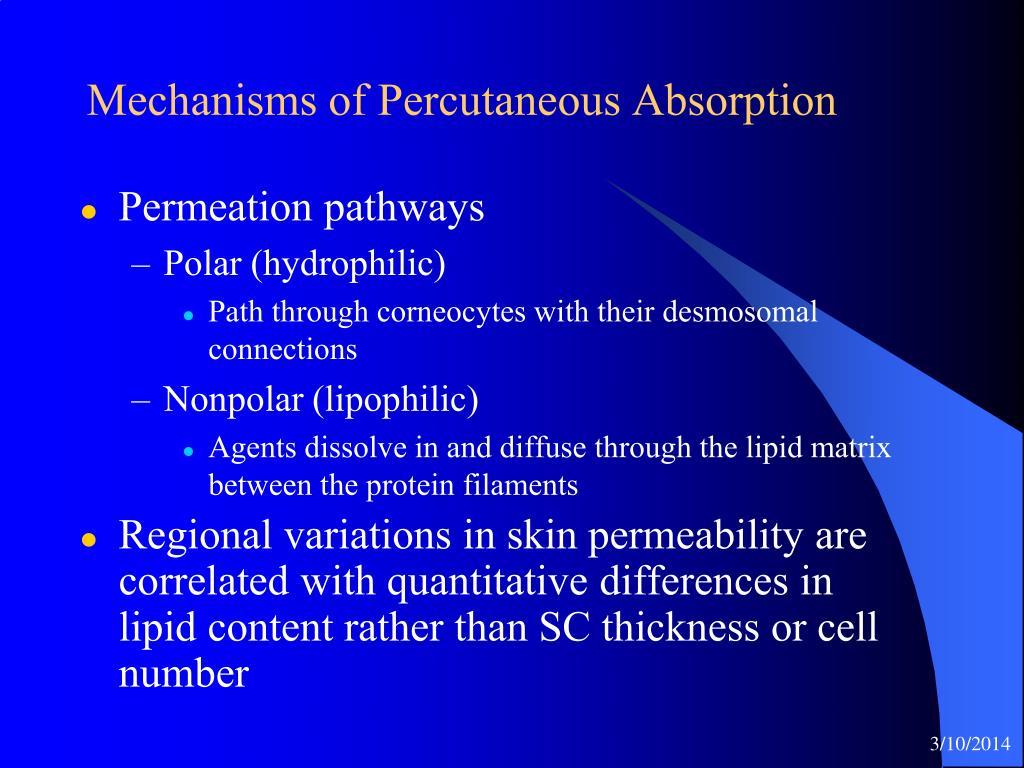 Mechanisms of Percutaneous Absorption