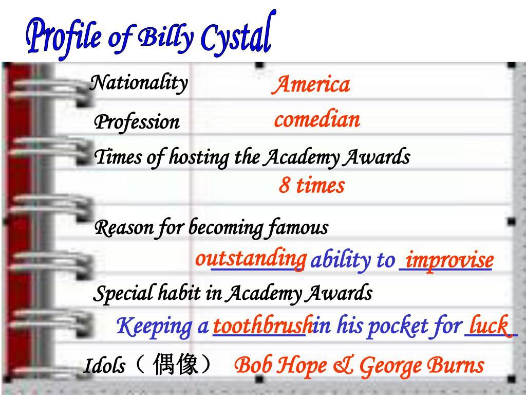 Profile of Billy Cystal