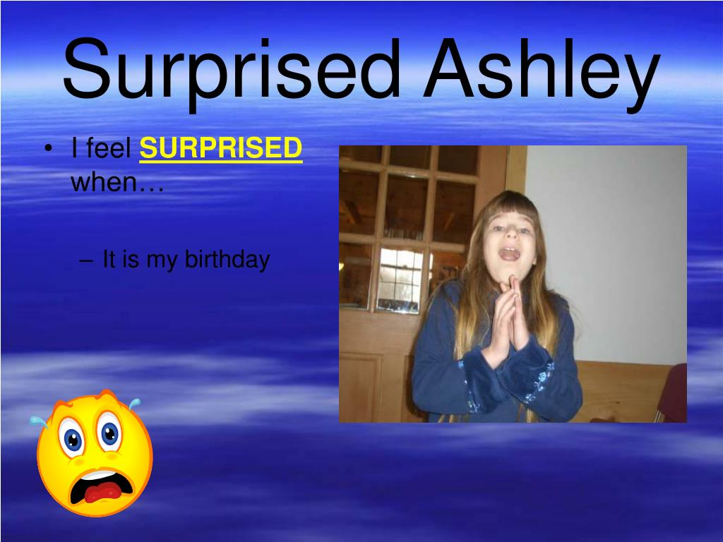 Surprised Ashley