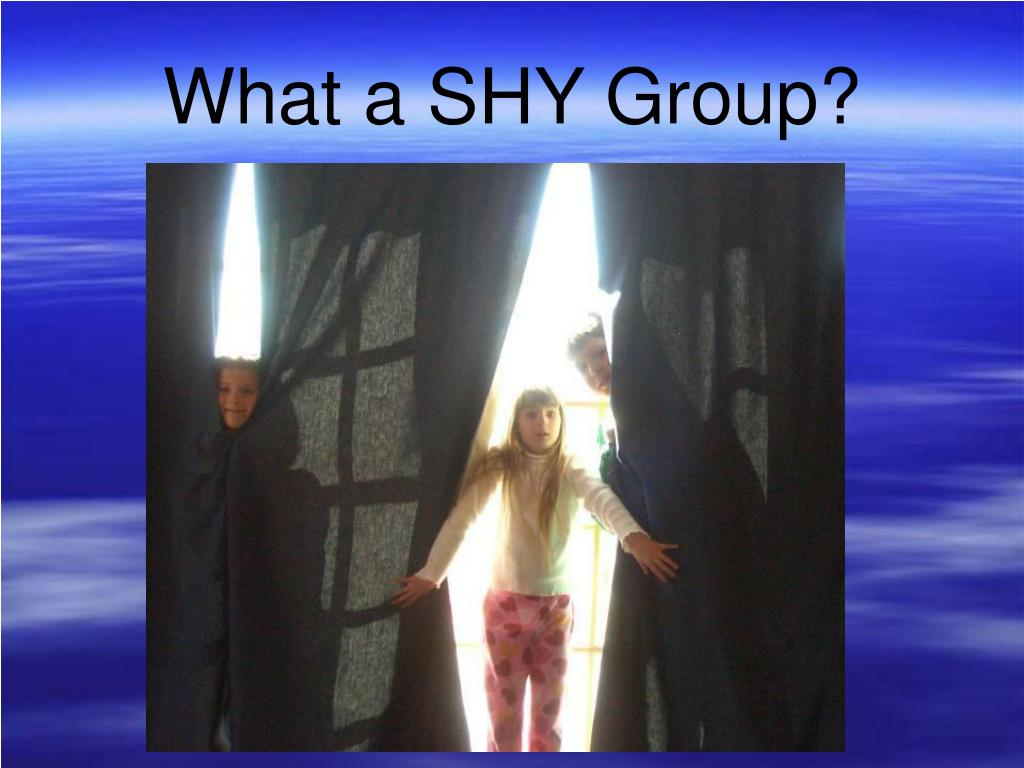 What a SHY Group?