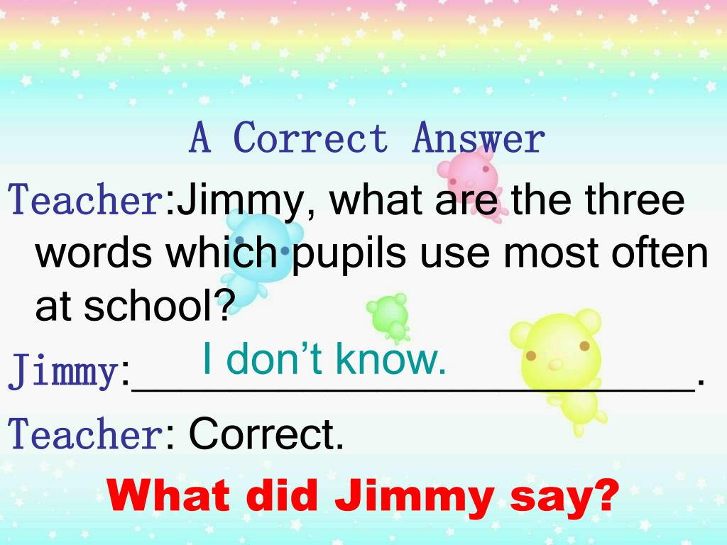 A Correct Answer