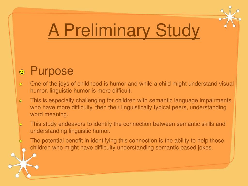 A Preliminary Study