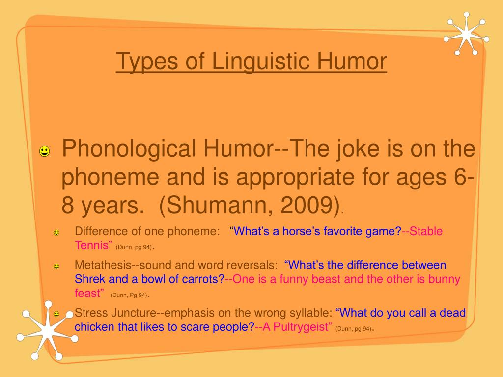Types of Linguistic Humor