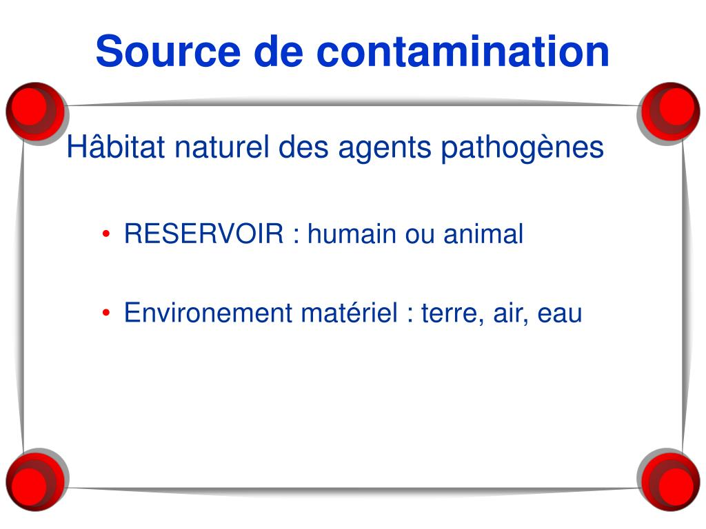 Source de contamination