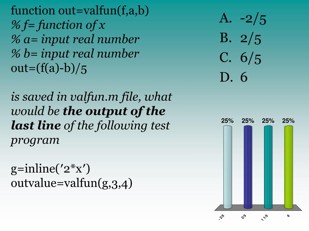 function out=valfun(f,a,b)