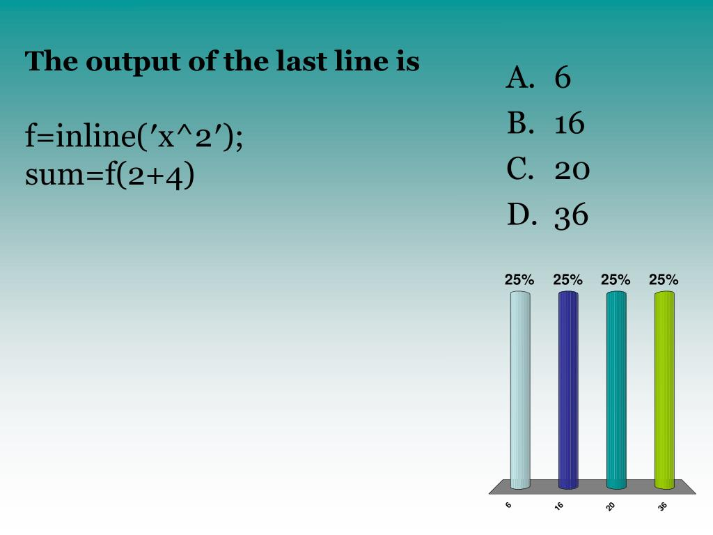 The output of the last line is