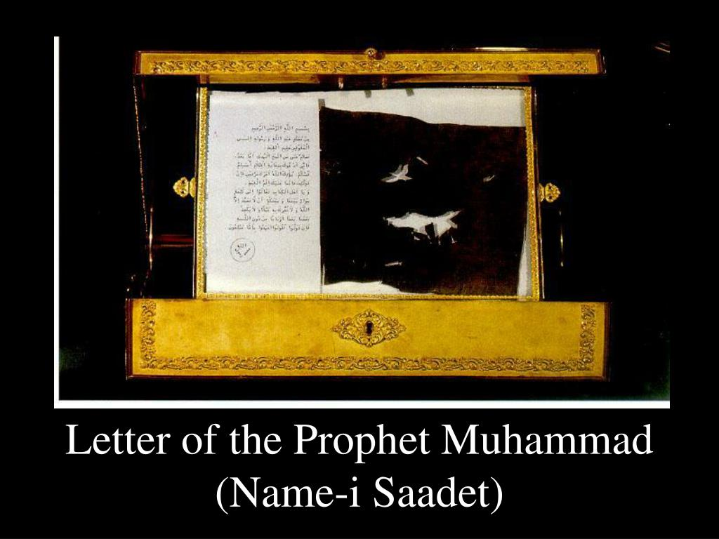 Letter of the Prophet Muhammad (Name-i Saadet)
