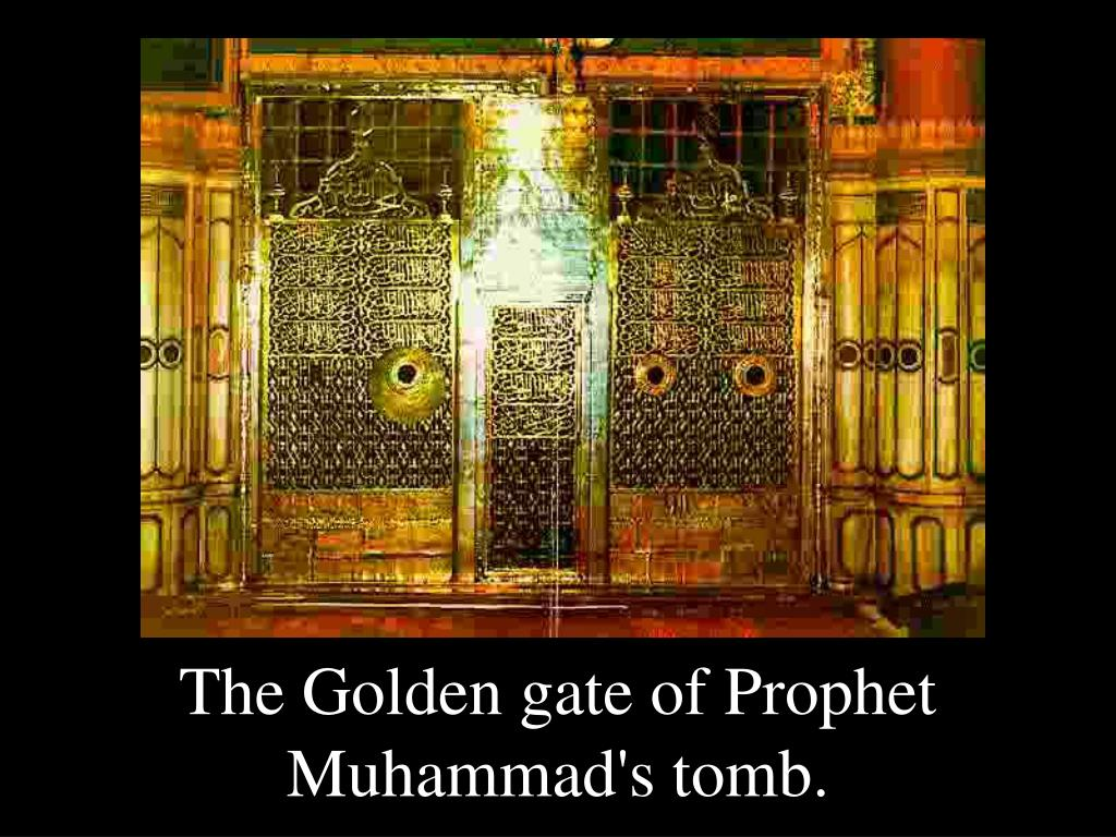 The Golden gate of Prophet Muhammad's tomb.