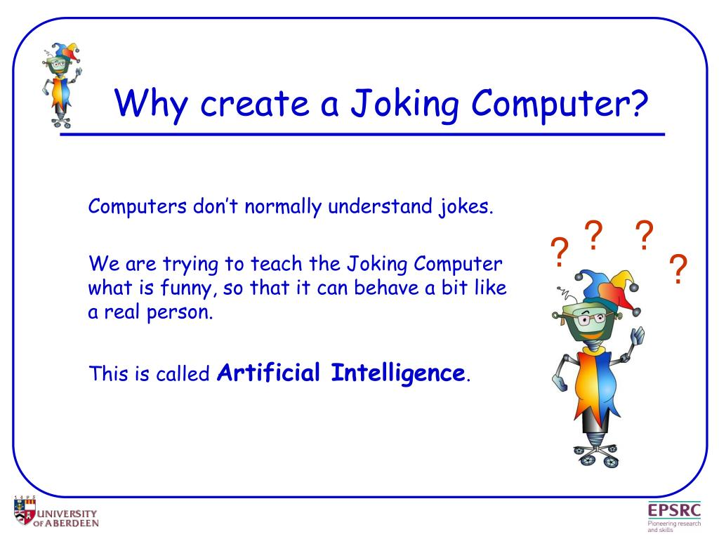 Why create a Joking Computer?