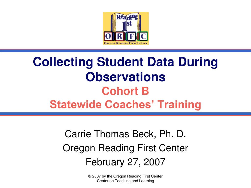 collecting student data during observations cohort b statewide coaches training