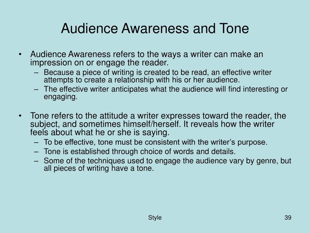 Audience Awareness and Tone