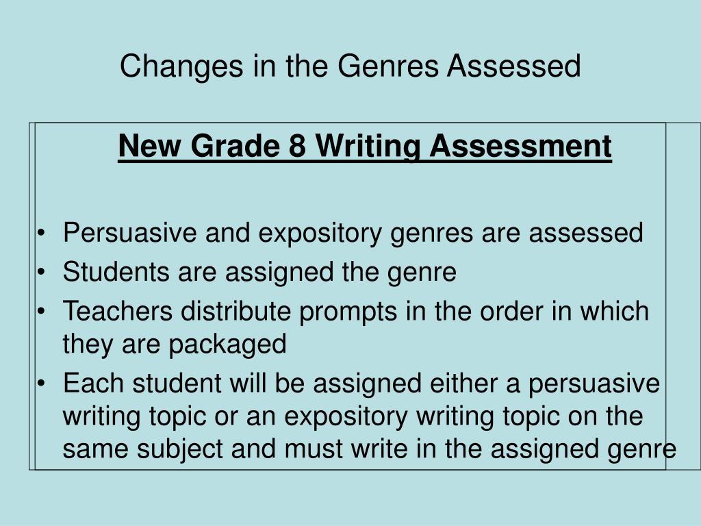 New Grade 8 Writing Assessment
