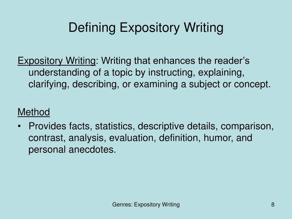 Defining Expository Writing