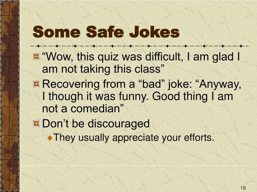 Some Safe Jokes