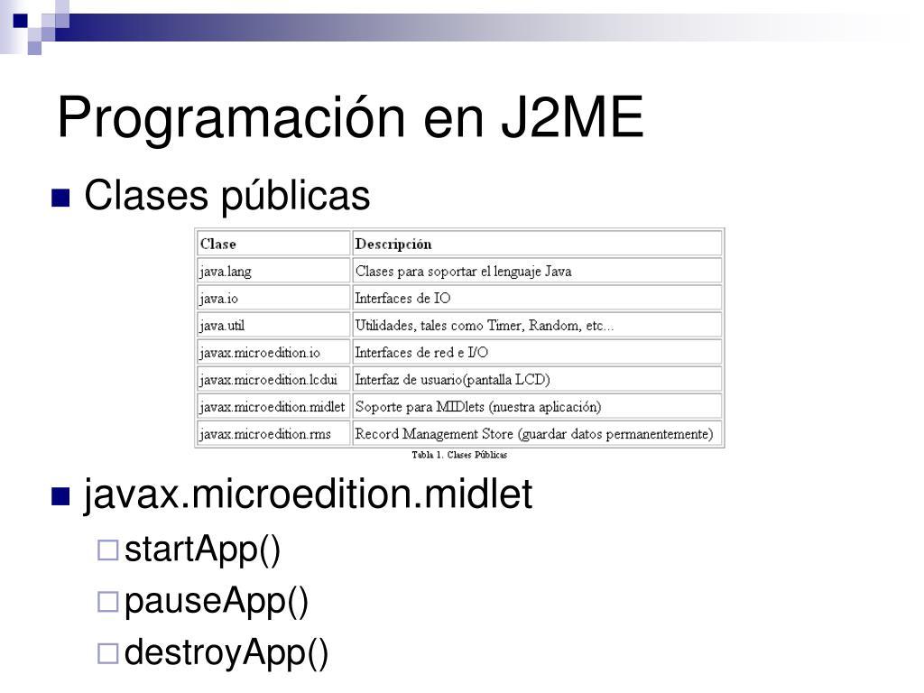 Programación en J2ME