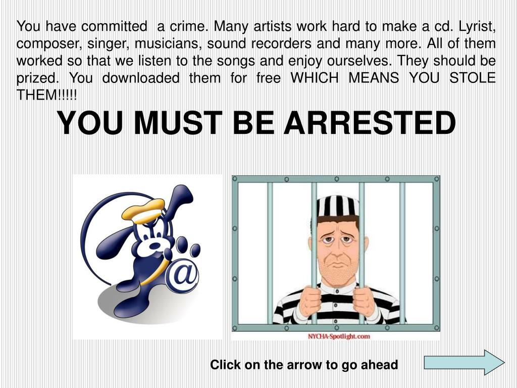 You have committed  a crime