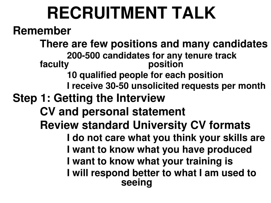 RECRUITMENT TALK