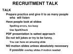 recruitment talk9