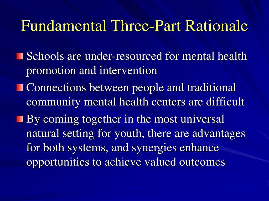 Fundamental Three-Part Rationale