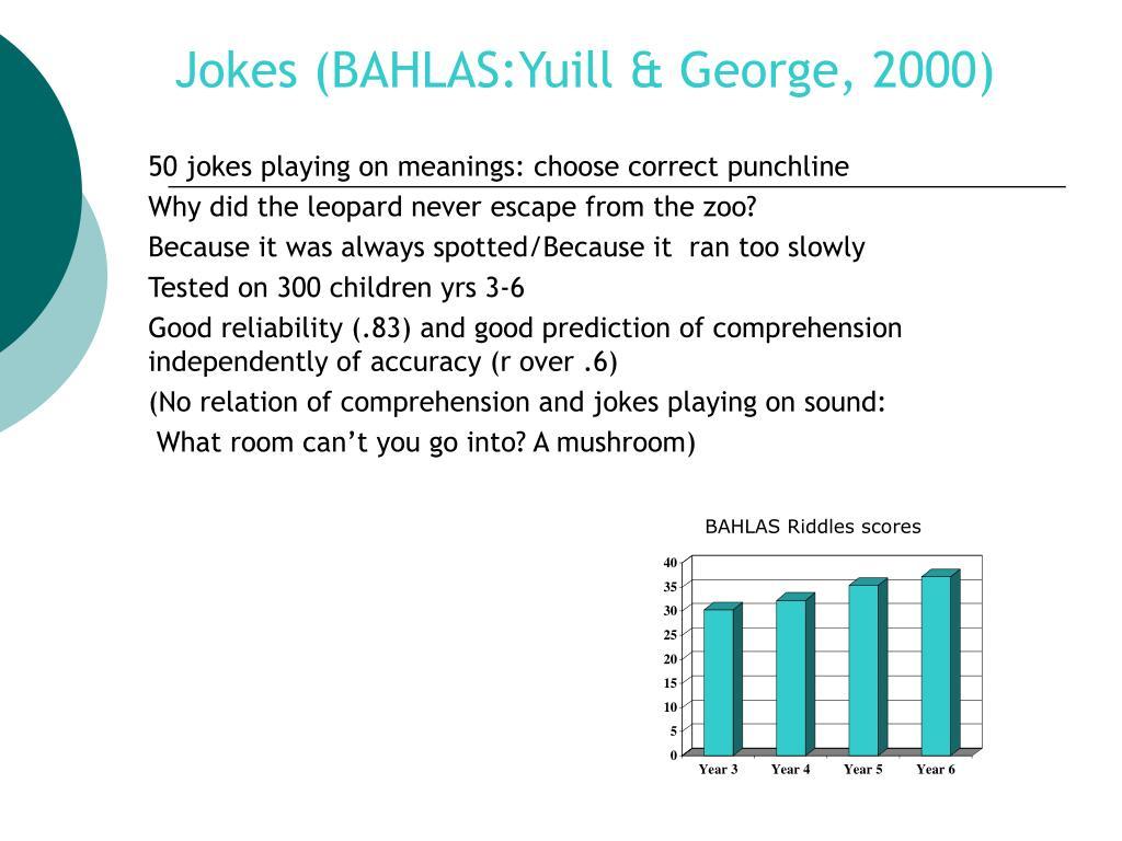 Jokes (BAHLAS:Yuill & George, 2000)