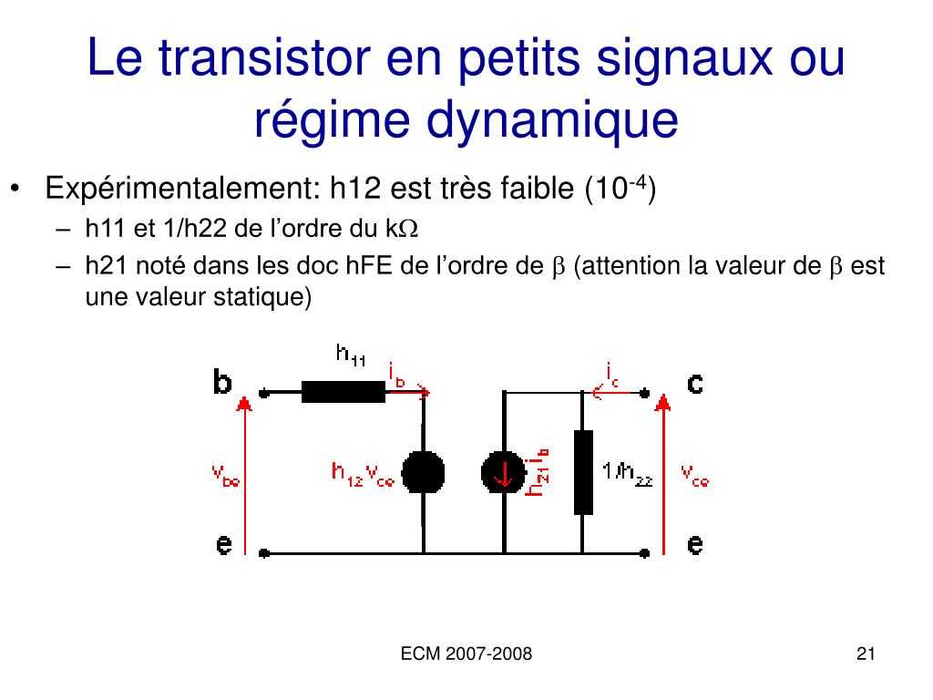 Ppt lectronique analogique 1a powerpoint presentation for Le transistor