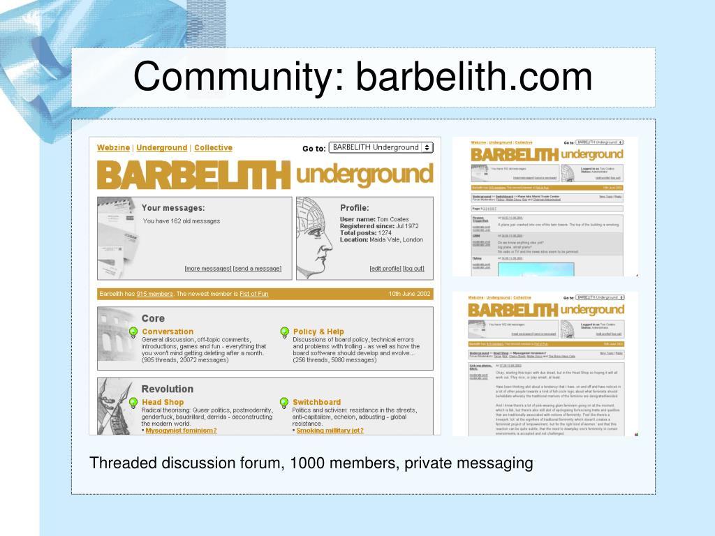 Community: barbelith.com