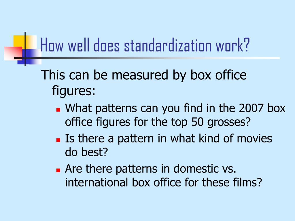 How well does standardization work?