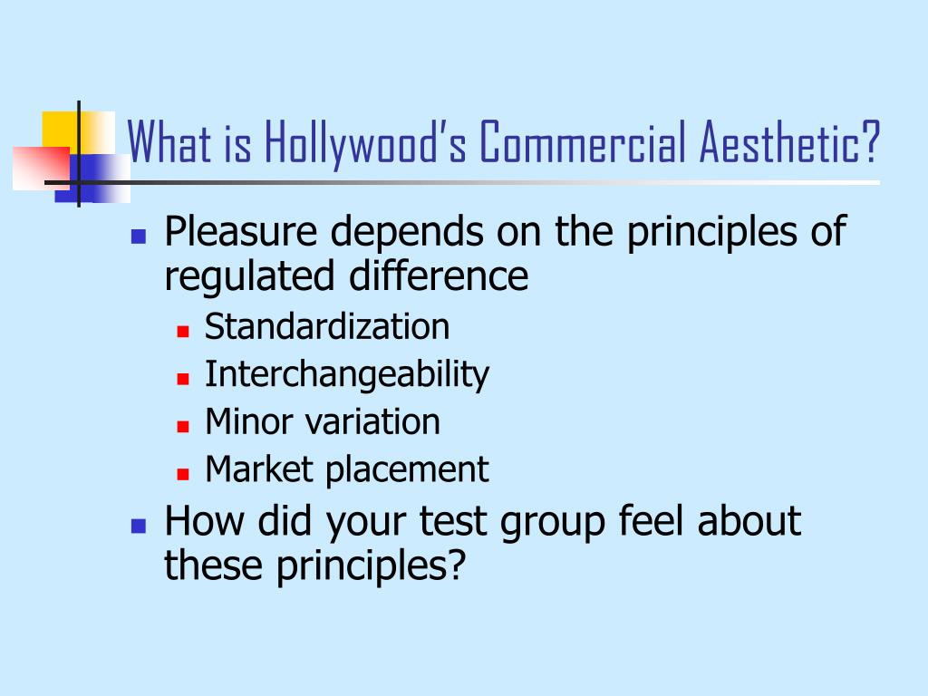 What is Hollywood's Commercial Aesthetic?