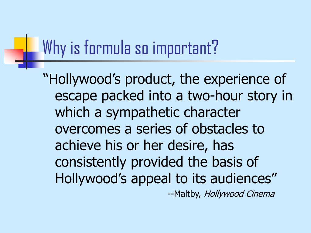 Why is formula so important?