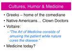 cultures humor medicine