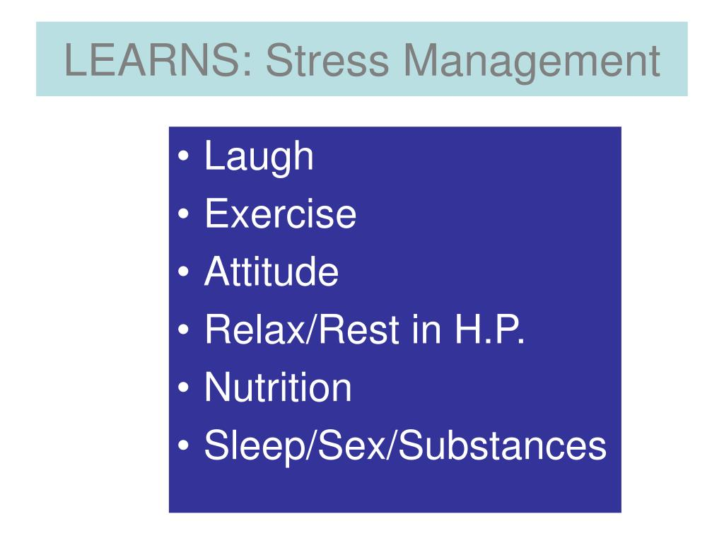 LEARNS: Stress Management